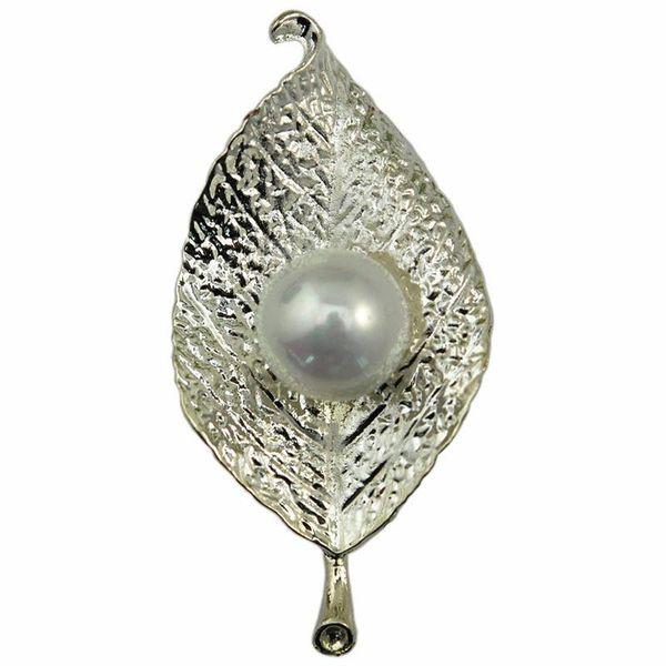 2019 feuilles bijoux mode brocoli simples Broche perles OL gros usine vente directe