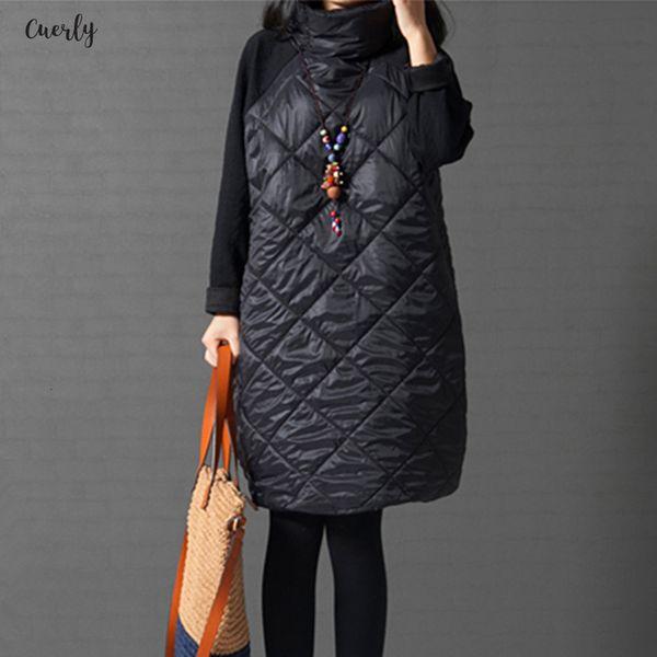 Formato più donne del rivestimento del cappotto, inverno caldo parka, Patchwork Ropa Mujer Cotone Collo Vestiti cotone imbottito Jacket 6XL 7XL