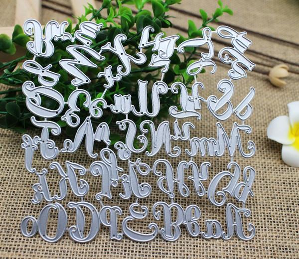 150 * 140mm 26 CapitalLowCase Alfabeto Metallo Muore 26 Lettere Taglio Muore Scrapbooking Goffratura Muore Taglio Stencil Carte FAI DA TE