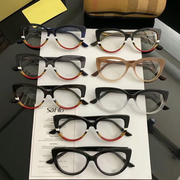 Star-modelo BE2302 de moda pequeñas mujeres Cateye marco de los vidrios de la calidad 52-19-145-mosaico tablón para la prescripción galssses caso conjunto completo