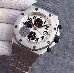 Venta al por mayor Cara Blanca 42 MM para hombre de lujo de acero inoxidable Relojes de pulsera 7750 CAL.3126 Cronógrafo Automático Movimiento Diver Hombres Negocios Reloj Hombre
