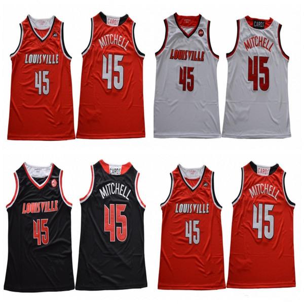best sneakers 0427b 055fb 2019 Men'S Louisville Cardinals Donovan Mitchell College Basketball Jerseys  Cheap Red Black Donovan 45 Mitchell Stitched Jersey University Shirts From  ...