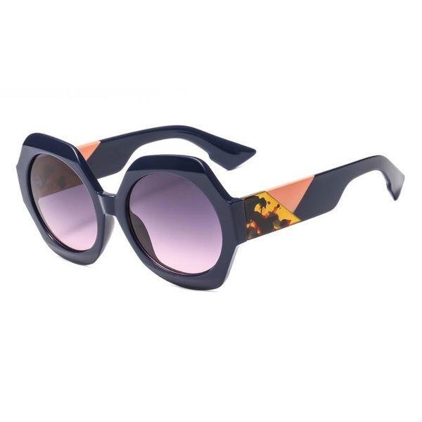 2019 Brand Vintage Round Women Fashion Sunglasses Modern Lady Female Sun Glasses Patchwork Legs Eyewear UV400 Gafas de sol