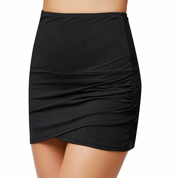 Moda cintura alta das mulheres nadar saia biquíni fundo verão praia elástica swimwear beachwear