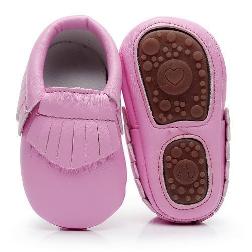 Nouveaux disques Mocassins semelle PU bambin doux chaussures de bébé en cuir Fringe antidérapants premières chaussures de marcheurs pour 0-24M garçons et filles vente chaude
