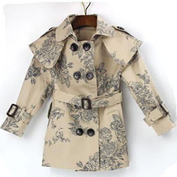 Girls jacket Kids Clothes Spring Autumn Girls Trench Coat Children Kids Jackets Casual Infantil Winter Coats For Girls Outwear