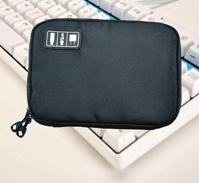 Travel Data Earphone Cable Pouch USB Flash Drives Digital Storage Case Organizer