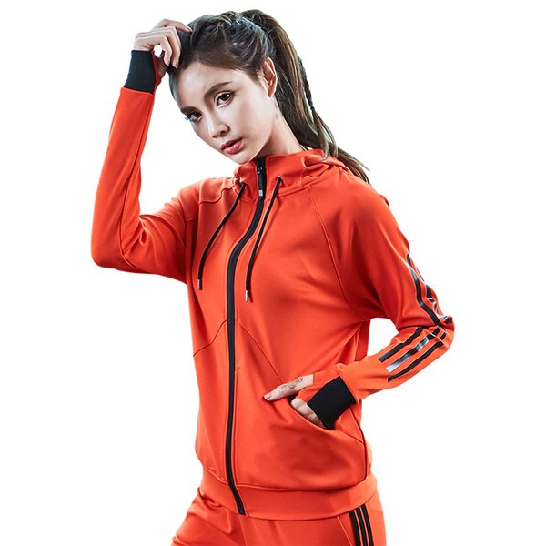 2019 Zipper Jacket Long Sleeve Yoga Shirt T Shirt Workout Sweatshirts Sports Jersey Sports Suit Women Fitness Coats Sport Gym Clothes From Capsicum,
