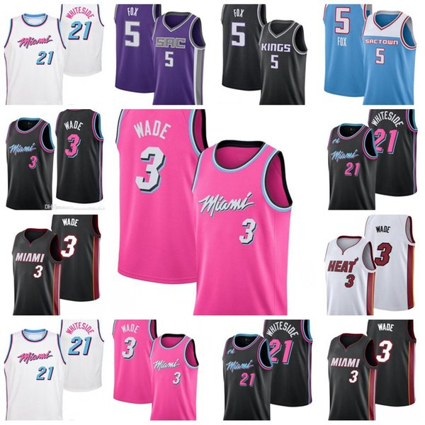 best loved 7ac83 eb363 2019 2019 New Cheap Dwyane 3 Wade Miami Jersey Heat Hassan 21 Whiteside  Jerseys DeAaron 5 Fox Top Quality From Cooljersey, $17.26 | DHgate.Com