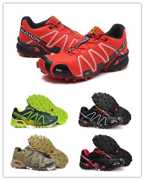 2019 NEW SALE Solomon Speed Cross 3 CS III Outdoor Male Camo Red Black Sports Shoes Climbing Shoe Cross Speed 3 Running Shoes Eur 40 46 Zeoutdoor From