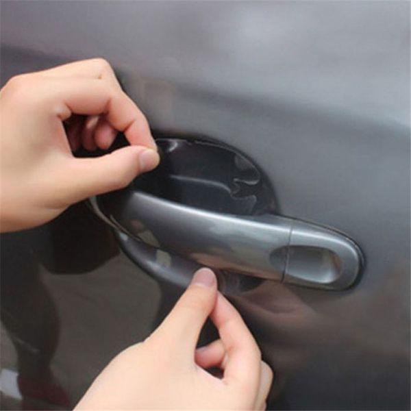 Novo 4x Punhos Do Pulso Da Porta Do Carro Scratches Película Protetora Adesivos de Vinil Carro-styling Covers Auto Adesivos