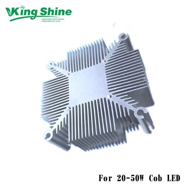 trasporto 20W-50W dissipatore di calore in alluminio puro per multichip led raffreddamento DIY LED coltiva la luce