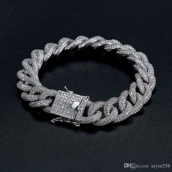 Kuba Armband beste Qualität Hip-Hop-Armband voller Diamanten-Armband Micro Zirkonia Männer Schmuck Kupfer Plating18k Gold-Fashion