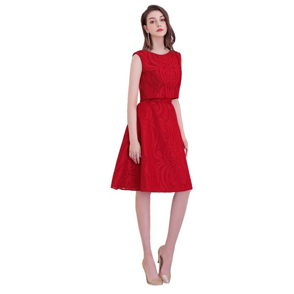 New design lace elegant Prom party Dresses Vestido de Festa A-line backless two pieces pattern short sexy dress