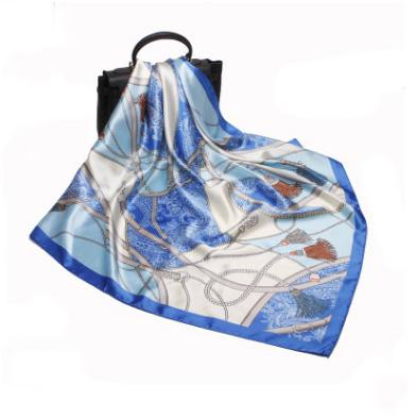 2019 women scarf silk feeling hair neck scarves square brand office Printing Hotel Waiter Flight Attendants Handkerchief rings Imitation Sil