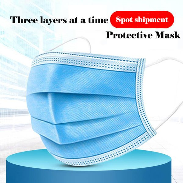 50pcs/pack profession 3 layer disposable protective face mouth masks non woven anti-dust safe comfortable breathable mask