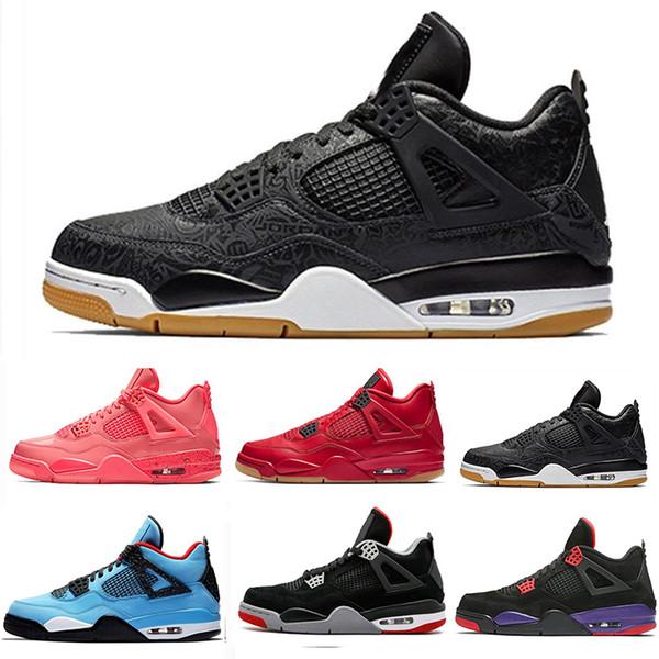 Raptors Tattoo 4 IV 4s men Basketball Shoes Travis Scott 4s Cactus Jack Pure Money Pizzeria Blue Black Men sneakers trainers sports shoes