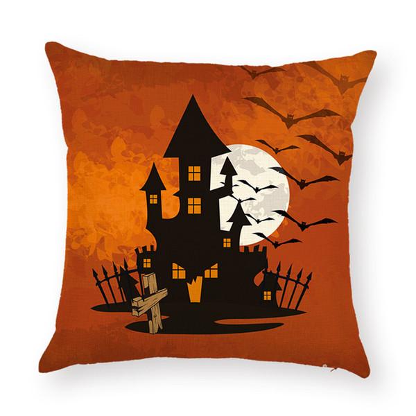 Neue Design Baumwolle Leinen Kissenbezug Halloween Decor Sofa Auto Taille Kissenbezug Platz Kissenbezug Pillowslip