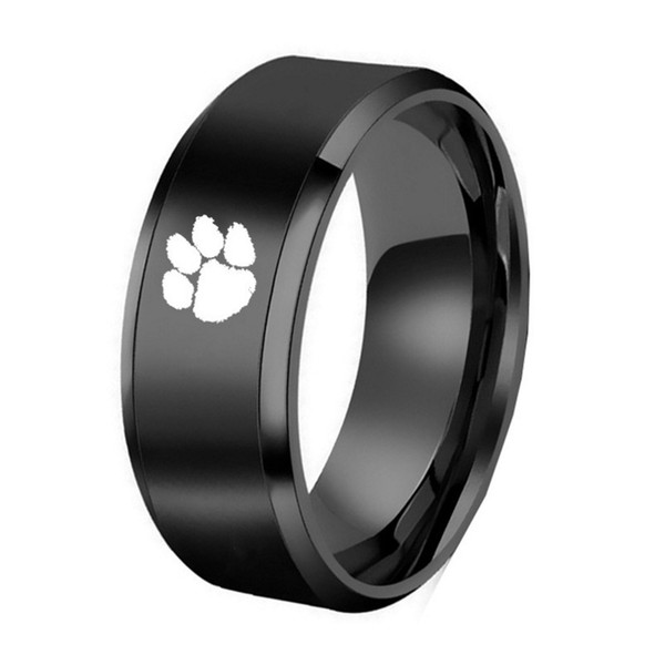 America ClemsonCollege Fans Tungsten Rings Custom University Engraving Tungsten Jewelry Party Ring