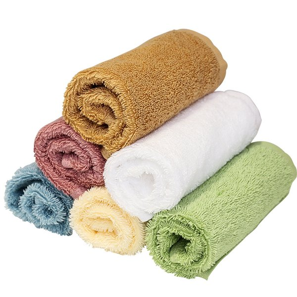 Pure cotton children's face cloth, handkerchief towel, small hand towel, soft and not easy to lose hair, six colors