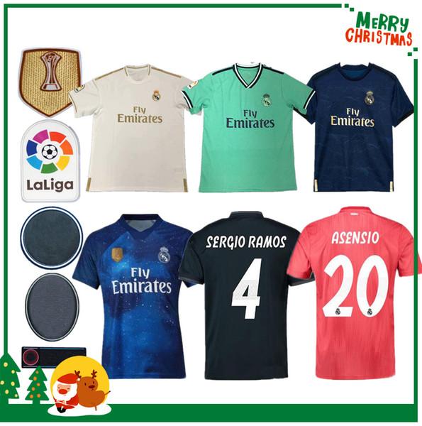 2019 Maillot Real madrid Jersey Benzema ASENSIO futebol Modric Kroos Sergio Ramos Bale Marcelo 18 19 20 Real Madrid homem mulher camisas