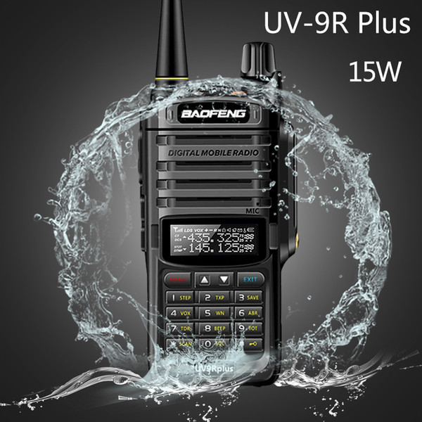 best selling 2020 Baofeng UV-9R plus 15w Waterproof Walkie Talkie High Power CB Ham 20KM Long Range UV9R portable Two Way Radio for hunting