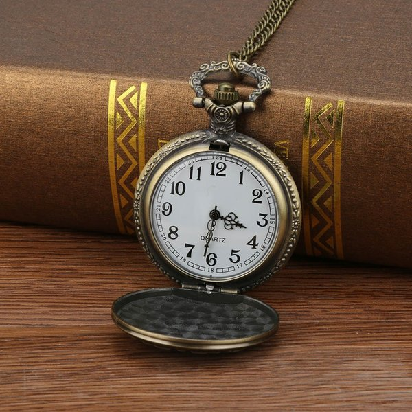 pocket watch Personalized Pattern Steampunk Vintage Quartz Roman Numerals Pocket Watch relogio de bolso cep saati Dropshipping