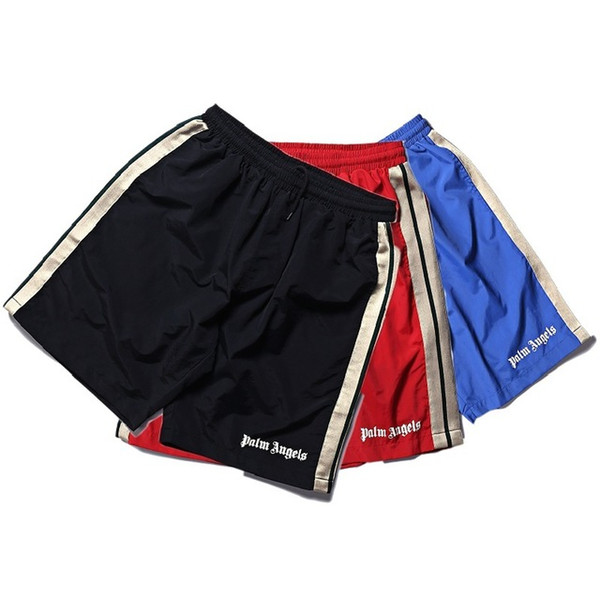 I più nuovi Palm Angels Shorts Uomo Donna 1p: 1 Pantaloni sportivi con fodera in jogging Summer Beach Style Striped Drawstring Palm Angels Pantaloncini