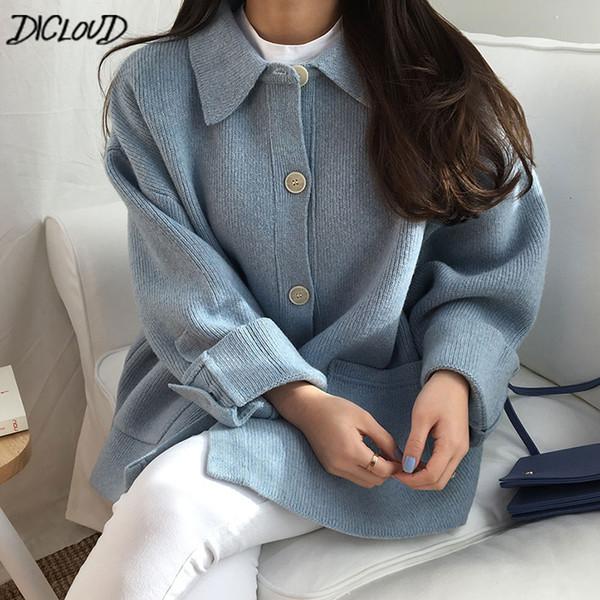 Dicloud Vintage Short Knited Sweaters Women Fashion Oversized Sweater Ladies Winter Coats Woman Harajuku Designer Women Tops NewMX190820