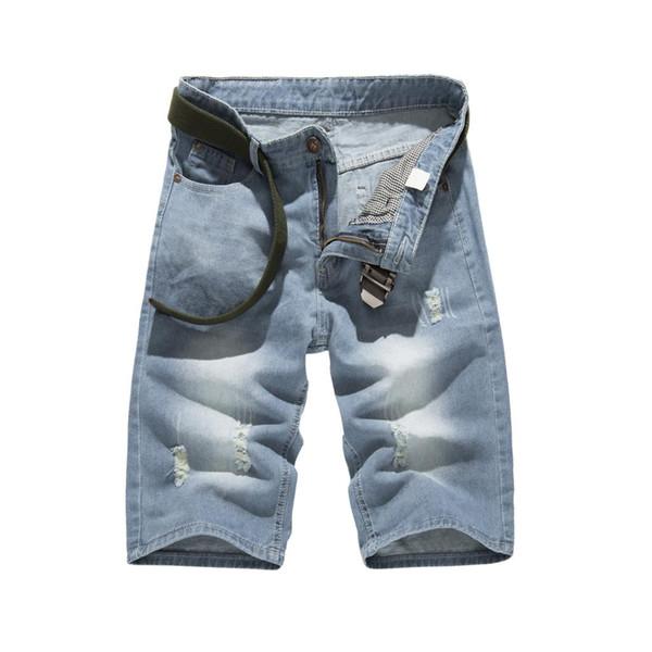 Summer Denim Shorts Male Jeans Men Jean Shorts Bermuda Skate Board Harem Mens Jogger Ankle Ripped Jeans Man Size 32-38