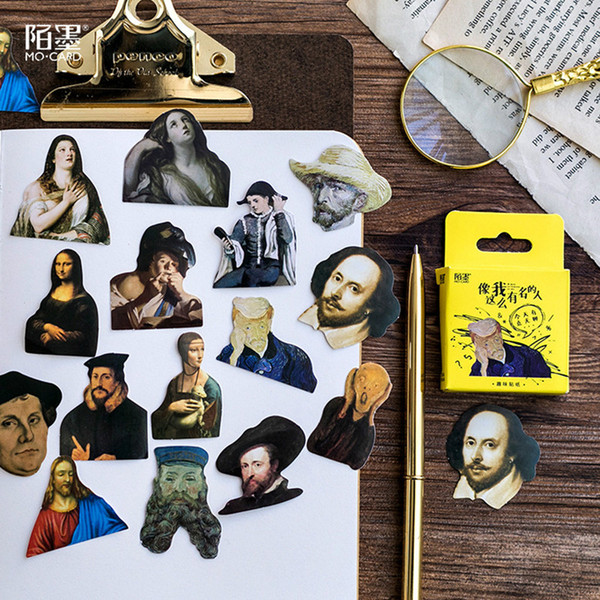 Promoção de vendas 45 pcs Celebrity Notebooks Etiqueta de Papel Decoração DIY Álbum Scrapbooking Etiqueta Kawaii Papelaria Presente