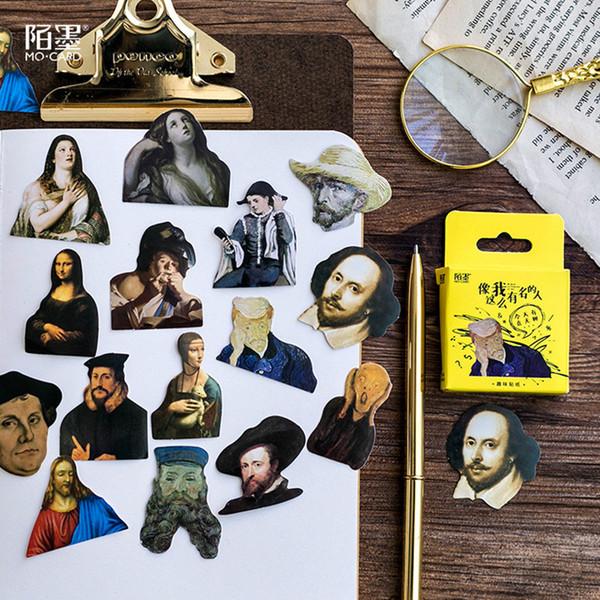 Sales Promotion 45pcs Celebrity Notebooks Paper Sticker Decoration DIY Album Scrapbooking Sticker Kawaii Stationery Gift