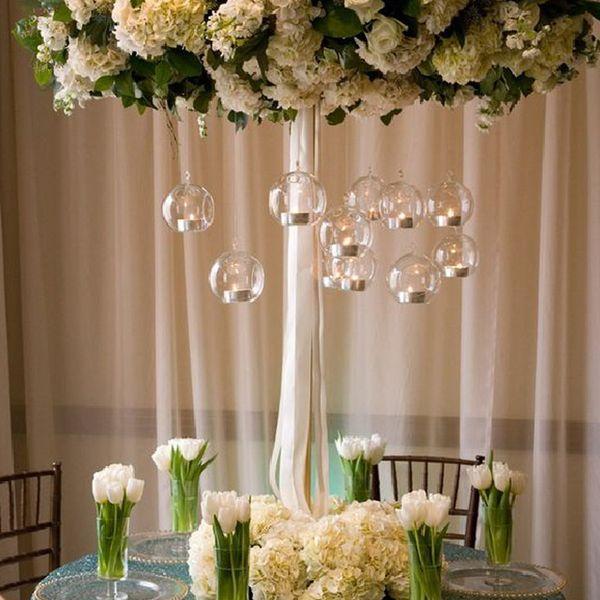18PCS/Lot O.RoseLif Brand Hanging Tealight Holder Glass Globe Terrarium Candle Holders Candlestick Home Bar Wedding Decoration