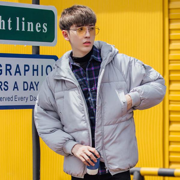 Gesteppt Warm Puffer Jacket Men Hood Korean Short Parkas Hombre Invierno beiläufige mit Kapuze Blase Mantel-Winter-Jacken Herren-Paar