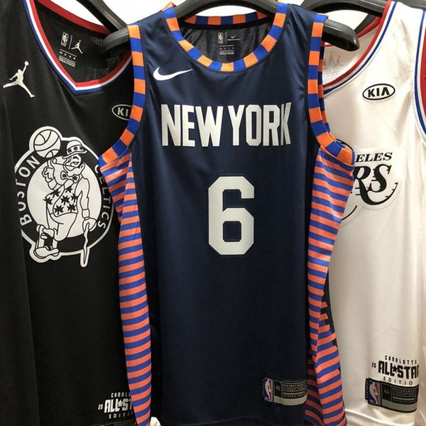 sports shoes 6e943 3afef 2019 2020 Men Knicks Kristaps Porzingis City New Edition Swingman  Basketball Jersey AU Hot Pressing Printed Name Number Authentic US Size XXS  XXL From ...