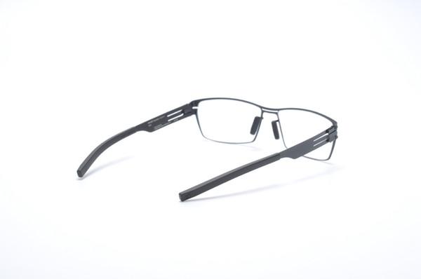 Irregular figure-shaped frame stainless steel germany Brand Glasses Screwless myopia prscription lenses with original case