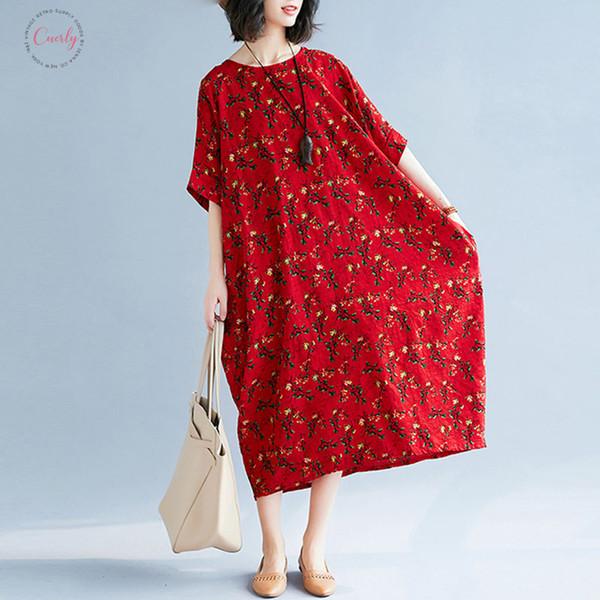 Dress estate delle donne Plus Size biancheria femminile Prairie Chic floreale grande Lady Vintage Abiti Abito lungo ABBIGLIAMENTO