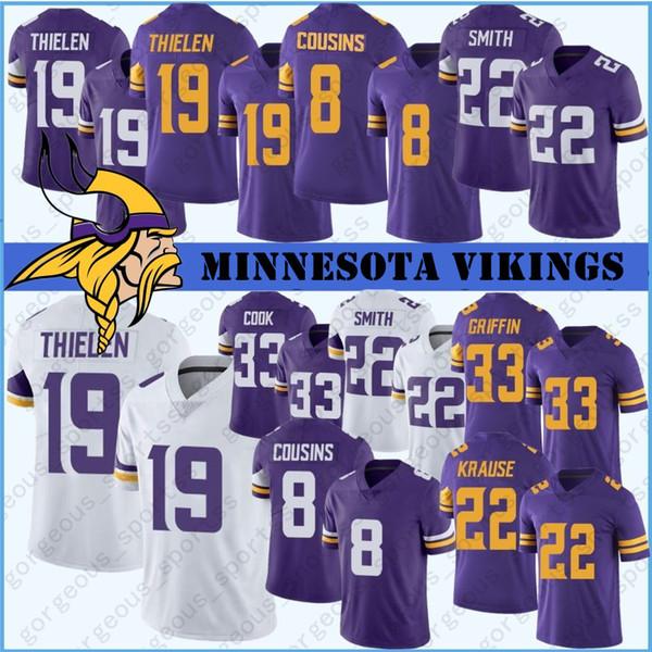 14 Stefon Diggs 19 Adam Thielen Minnesota Jerseys Viking 8 Kirk Cousins 84 Randy Moss 55 Anthony Barr 82 Kyle Rudolph Stitched Jersey
