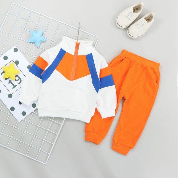 Baby Girl Clothes Boys Sport Suit Infant Unisex Patchwork Pattern Kids Outfits Autumn Spring Tracksuit Children Tops+Pants Cotton Clothing