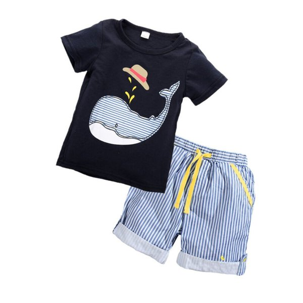 2020 Kids clothing sets summer baby clothes for boys girls cotton Lion print Newborn Infant sets 1-7Y child casual clothes 2PCS