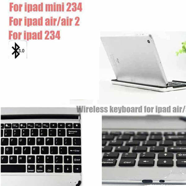 For iPad Air/Air2 /mini 234 / ipad 234 Wireless Bluetooth Smart Backlight Keyboard Cases Aluminum Alloy Ultra thin Tablet PC Stand Cover