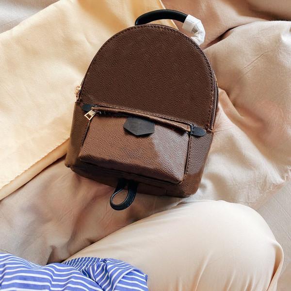 best selling Fashion Ladies Backpack Mini Handbag Men's Luggage Shoulder Bag Brown Casual School