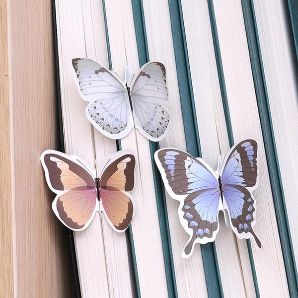 Kawaii Flower Butterfly Bookmarks Book Cilp Office School Supplies Wholesale Cumpleaños Regalo de Navidad