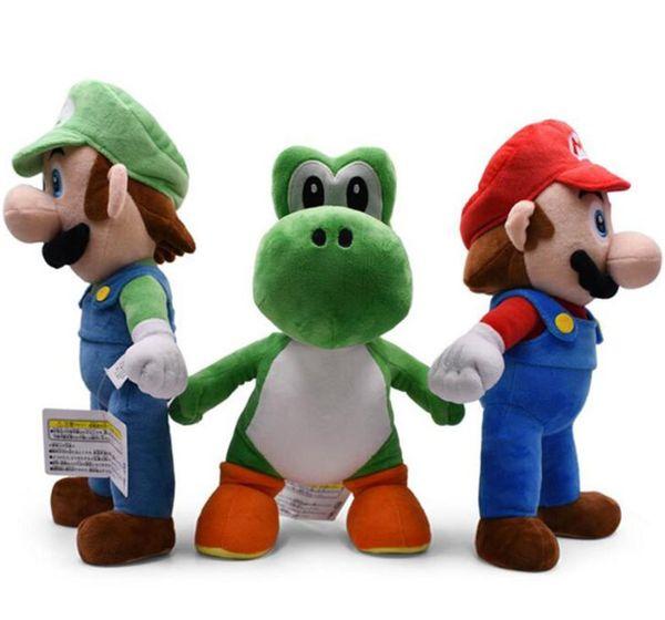 Quality Large 13'' 33cm Yoshi Mario Luigi Dolls Plush Toys Super Mario Bros Plush Doll Stuffed Toy For Baby Good Gift 3 Style