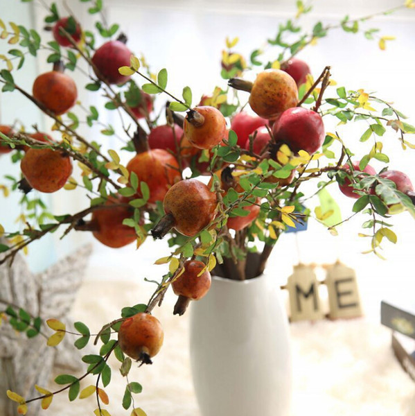 artificial pomegranate fruit branch berry simulation fruit tree branches simulation flower home decoration wedding fake flower