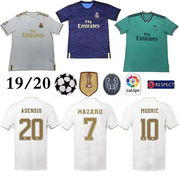 Real Madrid home #7 HAZARD Soccer Jersey 2019 Thai Top quality MODRIC Marcelo Man Football shirt BALE ASENSIO Third Kit soccer jersey