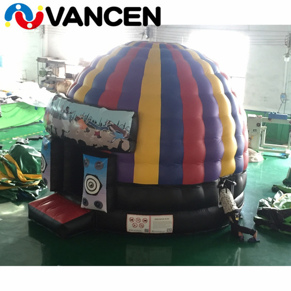 5*4m PVC colorful inflatable jumping castle house mini circular style bouncing playhouse popular inflatable bounce house