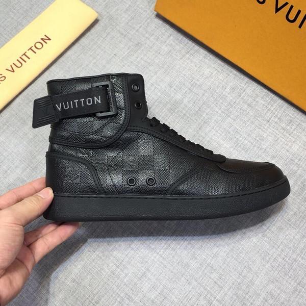 New20 top chaussures de sport hommes luxe chaussures confortables chaussures de sport sauvages de mode en cuir hommes boîte d'emballage d'origine Zapatos Hombr