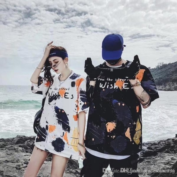 2019 marca homens mulheres T-shirt de manga curta primavera SummerMagpie guindaste orelhas de arroz letra t shirt mulheres Tee Casual Top camisa