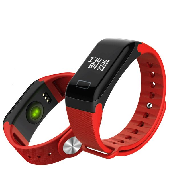 F1 Smart Bracelet Fitness Tracker Step Counter Activity Monitor Band Sleep Tracker remote photograph Wristband touch control for smartphone